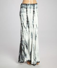 Look what I found on #zulily! Black & White Tie-Dye Maxi Skirt by Poof Apparel #zulilyfinds