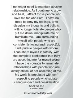 Lessons Learned in LifeI will no longer tolerate people who put me down. - Lessons Learned in Life Lessons Learned In Life Quotes, Life Lessons, People Quotes, True Quotes, Qoutes, Critical People, Too Late Quotes, Abusive Relationship, Relationships