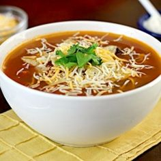 Chicken Tortilla Soup - in just 30 minutes!