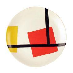 De Stijl Ceramic Plate