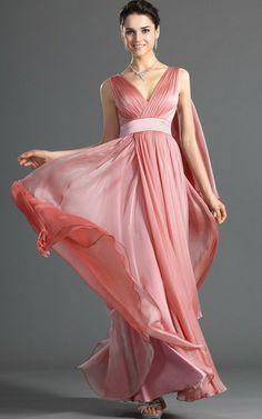 Enganliegendes V-Ausschnitt natürliche Taile Abendkleid/ Partykleid mit Tüll aus Chiffon