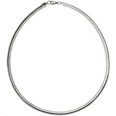 Amazon.com: Stainless Steel Omega Necklace 6 mm, 16 inch: Jewelry