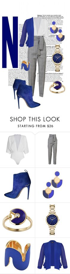 """""""Wearing Blue"""" by kelli-bailey-ouimet ❤ liked on Polyvore featuring WithChic, Gucci, Tory Burch, Lazuli, Karl Lagerfeld, Uncommon Matters and City Chic"""