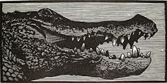 Barry Moser. Crocodile, 1985. Wood engraving. AP. 2 x 4 inches. $175