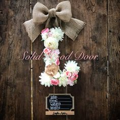 Exceptional baby nursery tips are offered on our site. look at this and you wont be sorry you did. Hospital Door Hangers, Baby Door Hangers, Initial Door Hanger, Peach Baby Shower, Floral Letters, Girl Nursery, Nursery Art, Decoration, Baby Gifts