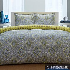 ORDERED!!!! SO MUCH TO BE DONE. @Overstock - This contemporary comforter set from City Scene features a small medallion print pattern in several colors. The entire set is comfortable 100-percent cotton.http://www.overstock.com/Bedding-Bath/City-Scene-Milan-Reversible-3-piece-Comforter-Set/7706964/product.html?CID=214117 $79.99