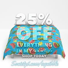 Two-day sale now on in my Society6 Store! 25% off everything in my shop from Sunday through Monday!