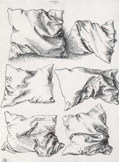 DRAWING artist: Albrecht Dürer, six pillows. I really like the simplicity of these drawings and the detail of the different positions. Albrecht Durer, Drawing Sketches, Pencil Drawings, Art Drawings, Sketching, Horse Drawings, Pen Sketch, Pencil Art, Drawing Lessons