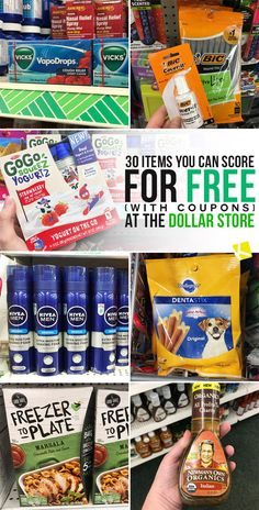 My new favorite obsession? Getting all the free things from the Dollar Store using coupons. Easily find coupons for these brand-name items on our website or mobile app. 30 Items You Can Score for Free (with Coupons) at the Dollar Store - The Krazy Coupon Lady