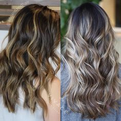 First & second sessions of balayage highlights on the same guest. Two step transition to brighter cooler tones while keeping her hair healthy! Balayage color blend by Adrian Sieminski
