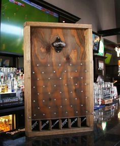 Drinko Plinko! This would be cool for a festival or craft show. It would attract customers!