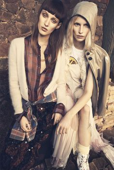 Franzi Mueller & Katrin Thormann Model the New Grunge for Gala by Alexx and Anton | Fashion Gone Rogue: The Latest in Editorials and Campaigns