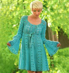 Crochet dress PATTERN empire dress crochet