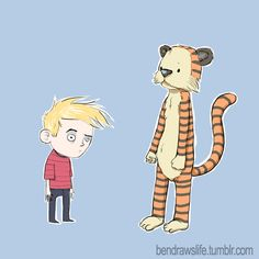Calvin and Hobbes by thedecay