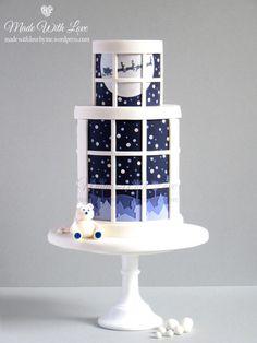 Cake Wrecks - Home - Sunday Sweets: Christmas Glee Christmas Themed Cake, Christmas Cake Designs, Christmas Sweets, Noel Christmas, Christmas Baking, Christmas Cakes, White Christmas, Minimal Christmas, Simple Christmas