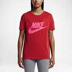 【NIKE】シグナル ロゴ ウィメンズ Tシャツ_ユニバーシティレッド/デジタルピンク