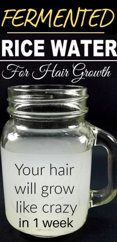 Here are 2 powerful rice water recipes for healthy, natural hair wax . - Here are 2 powerful rice water recipes for healthy, natural hair growth in just 1 week that you can - Rice Water Recipe, Water Recipes, Natural Hair Treatments, Homemade Hair Treatments, Hair Care Recipes, Hair Growth Mask Diy Recipes, New Hair Growth, Average Hair Growth, Faster Hair Growth
