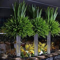 69 Ideas Wedding Centerpieces Greenery Tall For 2019 Succulent Centerpieces, Floral Centerpieces, Wedding Centerpieces, Wedding Decorations, Table Decorations, Centrepieces, Floral Wedding, Wedding Flowers, Garten