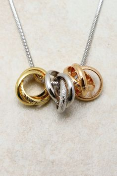 TriTone Ring Necklace