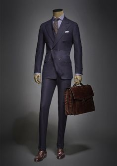 We look to the future.And it is to them that we entrust the secrets ofthe highest sartorial art. Mens Tailored Suits, Mens Suits, Sharp Dressed Man, Well Dressed Men, Mode Costume, Designer Suits For Men, Mens Fashion Suits, Suit And Tie, Gentleman Style
