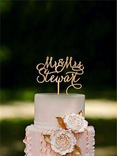 Custom Cake Topper Rustic Wedding Cake Topper Mr by HomeWoodDeco