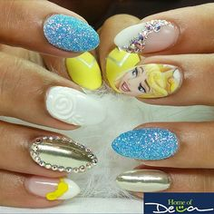 "Nail Art Inspired by Disney's ""Sleeping Beauty"""
