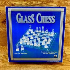 Glass Chess 32 piece Set Board Game frosted clear NEW box tatty from storage Glass Chess, Game Sales, Chess Pieces, Family Games, Board Games, Frost, Boards, Personalized Items, Storage