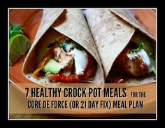 Yummy (and healthy) slow cooker meals perfect for 21 Day Fix or Core de Force.