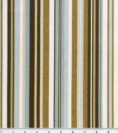 "Home Essentials Print Fabric 45""-Beach Umbrella Chocolate/Mist"