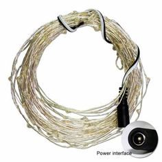 Zitrades Deluxe DC 12V 16.4 FT 5M White 50LED Fairy light Ultra Thin Silver Wire string With DC Plug
