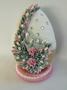 Easter Egg Crafts, Easter Eggs, Easy Crafts For Teens, Easter Egg Designs, Diy Crafts Hacks, Ribbon Art, Diwali Decorations, Egg Art, Shell Crafts