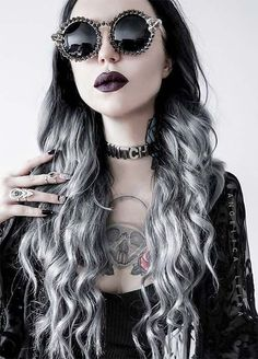 Granny Silver/ Grey Hair Color Ideas: Smoky Grey Ombre Hair