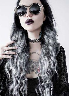 Granny Silver/ Grey Hair Color Ideas: Smoky Grey Ombre Hair