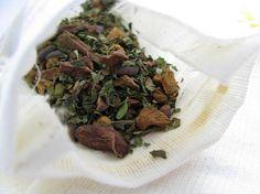 organic after dinner mint herbal tea in 5 reusable organic cotton tea bags