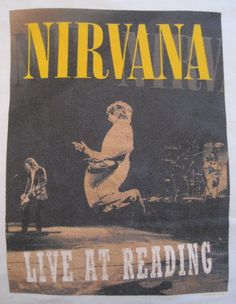 Nirvana at Reading Rock Posters, Band Posters, Concert Posters, Music Posters, Pearl Jam, Music Is Life, My Music, Kurt Corbain, Smart Casual