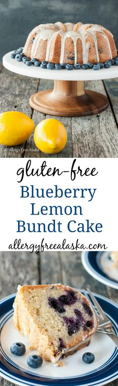 Juicy blueberries with refreshing lemon... this Gluten-Free Dairy-Free Blueberry Lemon Bundt Cake is light and summery, and big on lemon flavor!