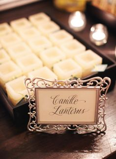 favors...candle lanterns (see style me pretty favors gallery)