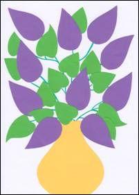 Šeřík – koláž Inspiration For Kids, Spring Crafts, Paper Crafts, Handmade, Children, Dibujo, Basteln, Kids, Tissue Paper Crafts