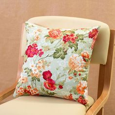 Red flowers decorative pillow for couch Chinese style