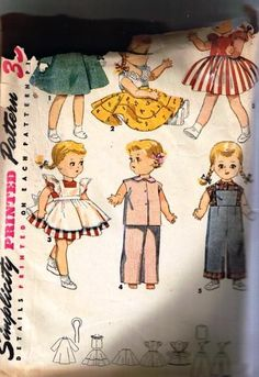 1953 Simplicity Doll Pattern 4509 14 inch Bonny by TheIDconnection, $30.00