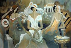 Las mujeres en la pintura del artista israelí Isaac Maimon ~ Blog de un admirador del arte