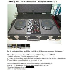 """""""This is the worst DJ rig you will ever see for sale online and that is the Gospel"""" Dj Rig, Professional Dj, The Dj, Laughter, Music Instruments, Twitter, Musical Instruments"""