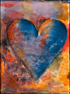 'Blue Heart' (1988) by Jim Dine