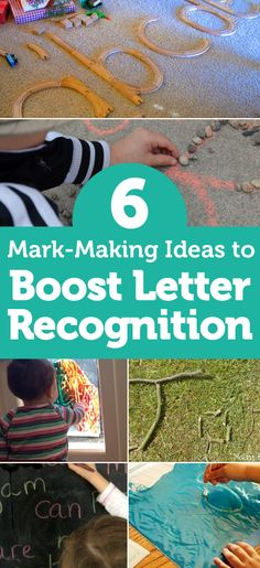 Boost Letter Recognition With These 6 Great Mark-Making Ideas Foundation Stage, Letter Recognition, Eyfs, Mark Making, Letters And Numbers, Pre School, Making Ideas, Lettering, Activities