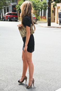 <3 anything black mixed with leopard print