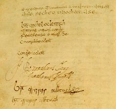 Signature page from the Annals of the Four Masters...