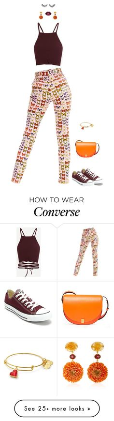"""""""Girls Just Wanna Have Fun"""" by crystal-castleberry on Polyvore featuring Versace, Converse, Victoria Beckham, Bahina and Lime Crime"""