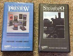 RARE Beta Tape Pentrex Train Video Steamexpo Preview Volume 1 & 2 1986 Vancouver