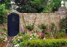Beautiful walled Charleston Garden and gate