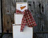 DIY Wood Snowman.